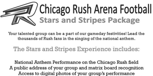 Chicago Rush Arena Football | Fan Relations & Group Ticket Sales